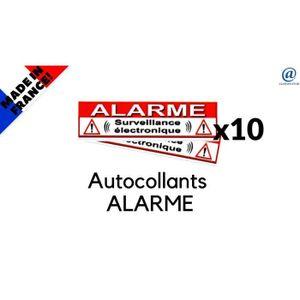 Autocollant alarme achat vente autocollant alarme pas for Autocollant alarme maison