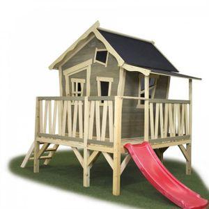 cabane enfant exterieur en bois achat vente jeux et jouets pas chers. Black Bedroom Furniture Sets. Home Design Ideas