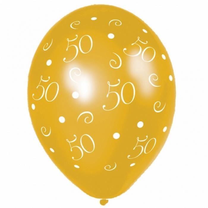 Lot de 25 ballons or 50 ans d co mariage achat vente for Decoration 50 ans