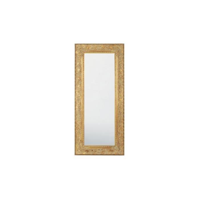 miroir tendance opulence dore 215x95 kare design achat