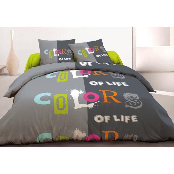 parure de draps pour lit 90x190 pur coton 57 fils achat vente parure de drap parure 1 pers. Black Bedroom Furniture Sets. Home Design Ideas