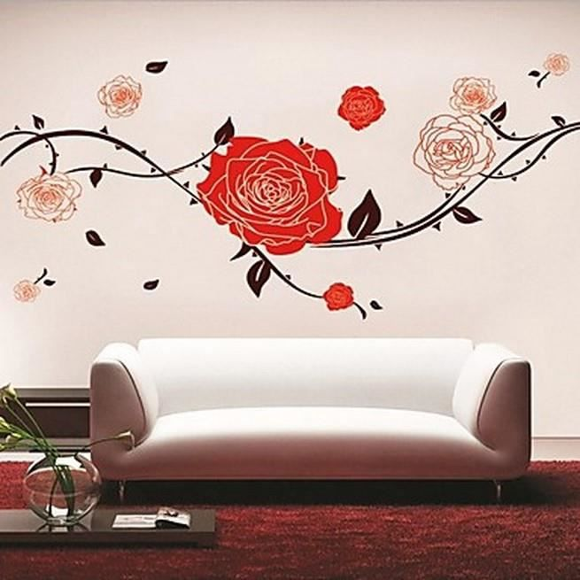 affiche murale rose rouge achat vente affiche cdiscount. Black Bedroom Furniture Sets. Home Design Ideas