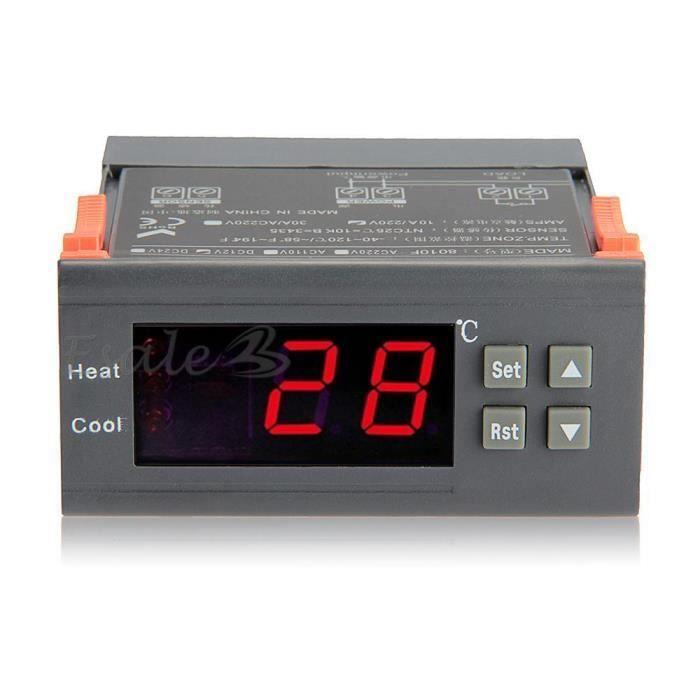 12v lcd thermostat r gulateur capteur temperature num rique pour aquarium achat vente. Black Bedroom Furniture Sets. Home Design Ideas
