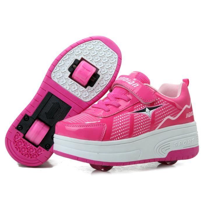basket enfants chaussures roulettes heelys gar ons filles sneakers avec roues automatique. Black Bedroom Furniture Sets. Home Design Ideas