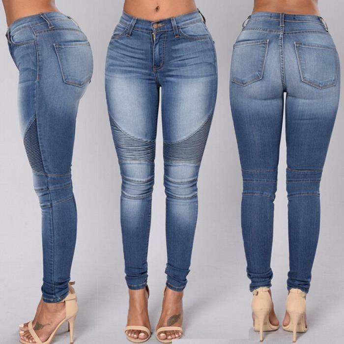 pantalon jean femme achat vente pantalon jean femme pas cher les soldes sur cdiscount. Black Bedroom Furniture Sets. Home Design Ideas