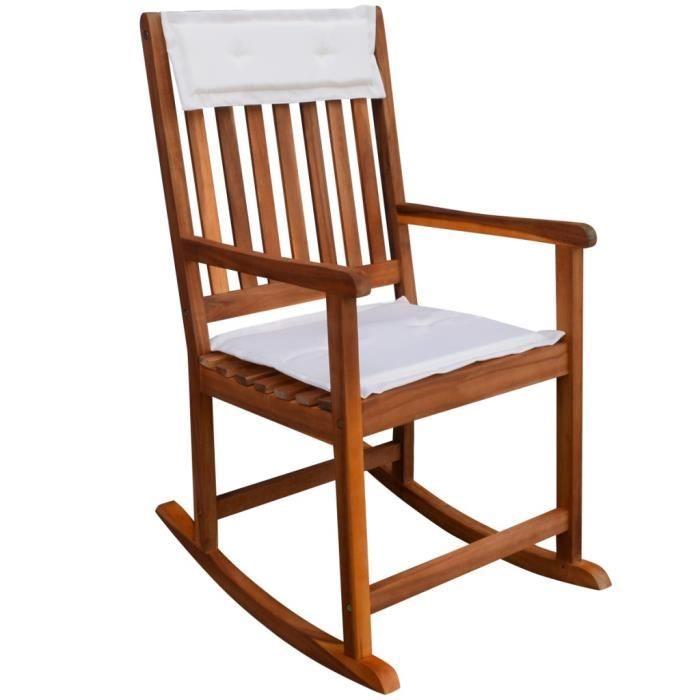 Chaise bascule pour jardin en acacia massif achat for Chaise 0 bascule