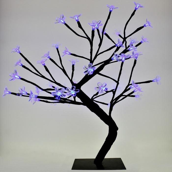 arbre lumineux 48 led bleu lampe design boitier 8 achat vente objets lumineux d co m tal. Black Bedroom Furniture Sets. Home Design Ideas