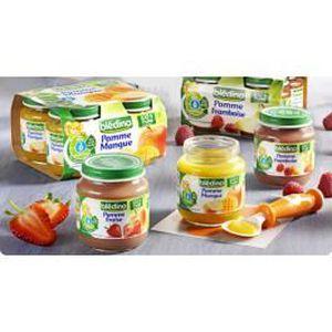 DESSERT FRUITS BÉBÉ BLEDINA Pot Fruit 130 g 6 mois, Pomme Fraise par 1