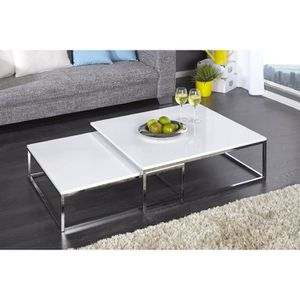 TABLE BASSE Table basse design Dooly blanc