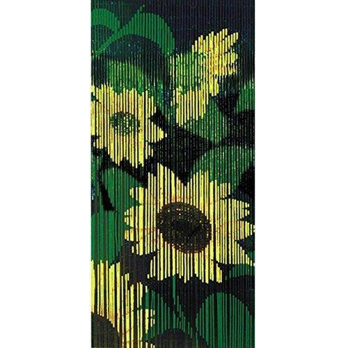 Rideaux porte bambou tournesols achat vente rideau de - Rideaux paris pas cher ...