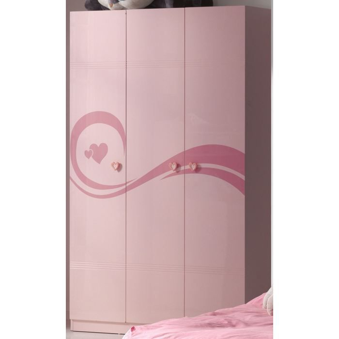 Armoire 3 portes swithome pinky rose achat vente armoire de chambre armoi - Cdiscount armoire de chambre ...