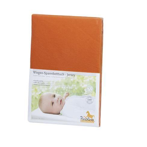 Drap housse orange de berceau de 70x39 90x55 achat for Drap housse berceau