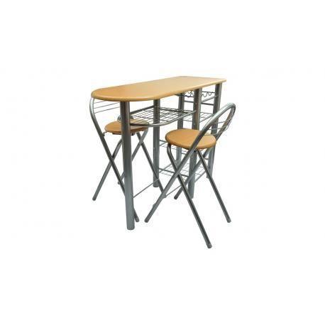 Lot avec une table de bar avec 2 chaises achat vente - Table de cuisine avec chaise ...