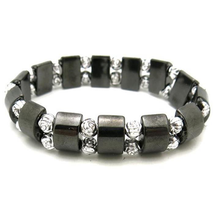bracelet magnetique femme aimant rose argent achat vente bracelet gourmette bracelet. Black Bedroom Furniture Sets. Home Design Ideas