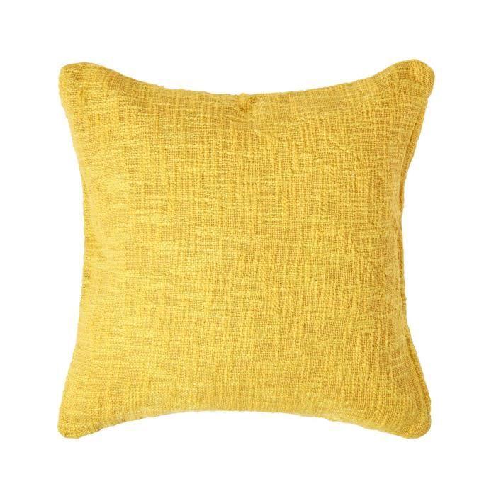Coussin d houssable jaune nirvana 60 x 60 cm achat for Housse de coussin 60 60