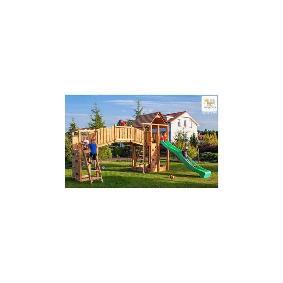 station de jeu en bois achat vente jeux et jouets pas chers. Black Bedroom Furniture Sets. Home Design Ideas