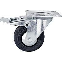 roulette pivotante 100 mm avec frein achat vente roue roulette cdiscount. Black Bedroom Furniture Sets. Home Design Ideas