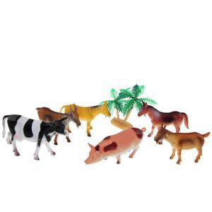 NATURE - ANIMAUX Figurine d'animaux de la ferme - Set de 7 pièces