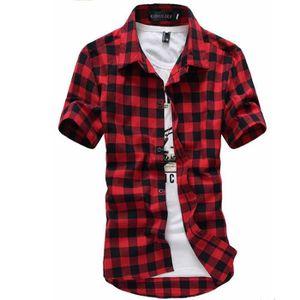 chemise a carreaux rouge et noir achat vente chemise a carreaux rouge et noir pas cher. Black Bedroom Furniture Sets. Home Design Ideas