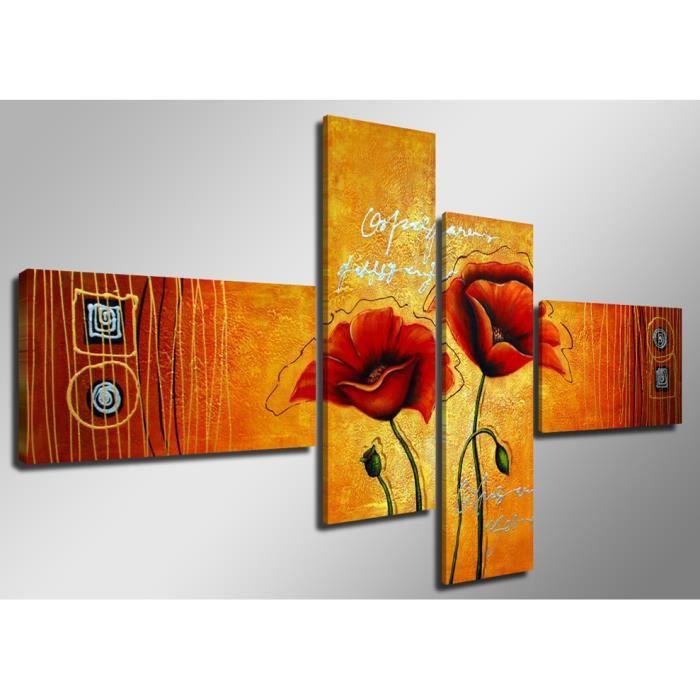 Tableau moderne imprim 160x70 cm fleurs achat vente tableau toile - Vente tableau moderne ...