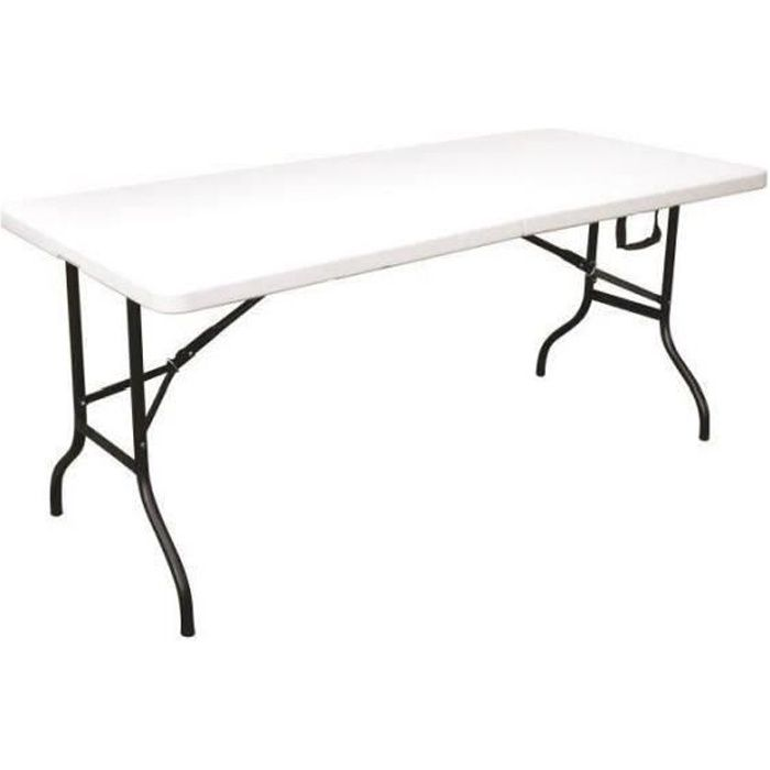 table pliante 180 cm achat vente pas cher cdiscount. Black Bedroom Furniture Sets. Home Design Ideas