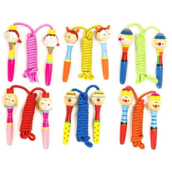 corde a sauter poign e personnage jouet en bois achat vente corde sauter jouet cdiscount. Black Bedroom Furniture Sets. Home Design Ideas