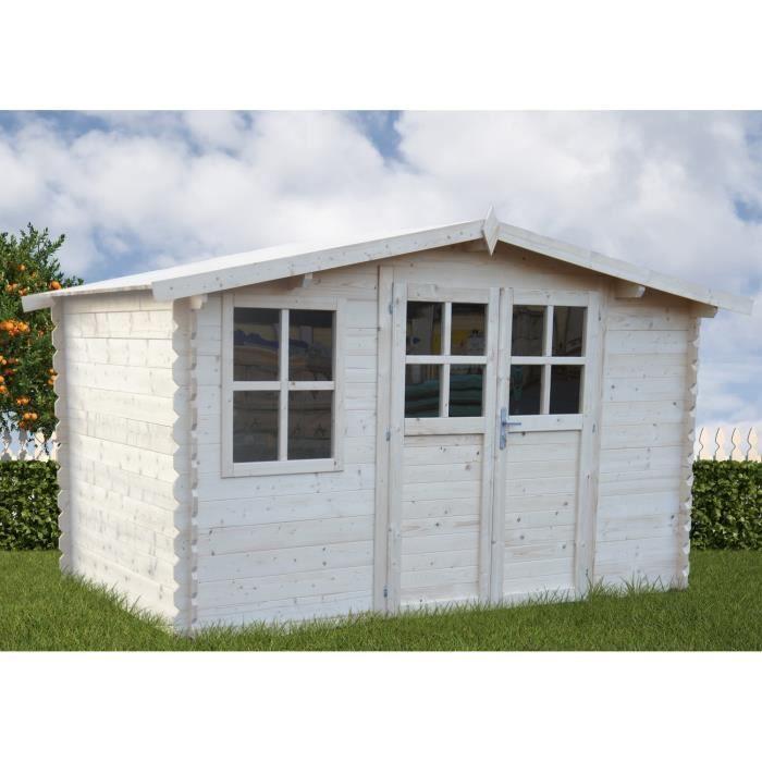 Abri de jardin bois 4x3m 28mm 10 44m achat vente abri jardin chalet ab - Cdiscount abri de jardin ...