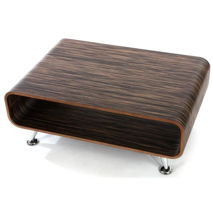 Table basse p rouse xxl brun fonc dim 33 x achat - Table basse brun noir ...