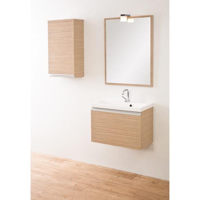 Ensemble de salle de bain cerisier clair naomi couleur for Ensemble salle de bain