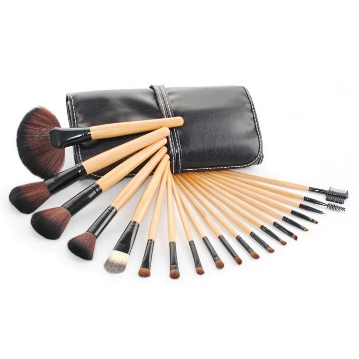 kit de pinceau maquillage professionnel 19pcs eyebrow shadow blush fond de teint anti cerne kit. Black Bedroom Furniture Sets. Home Design Ideas