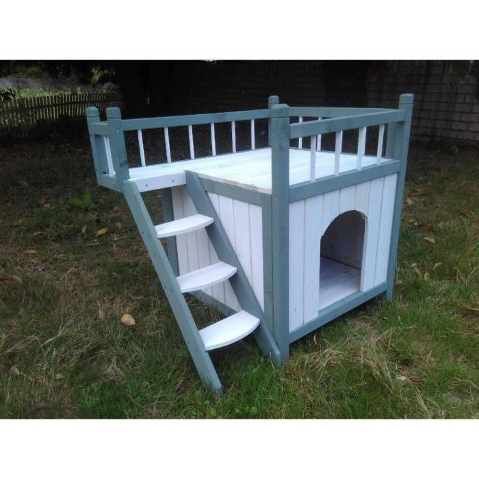 niche pour chien iroquois avec balcon achat vente. Black Bedroom Furniture Sets. Home Design Ideas