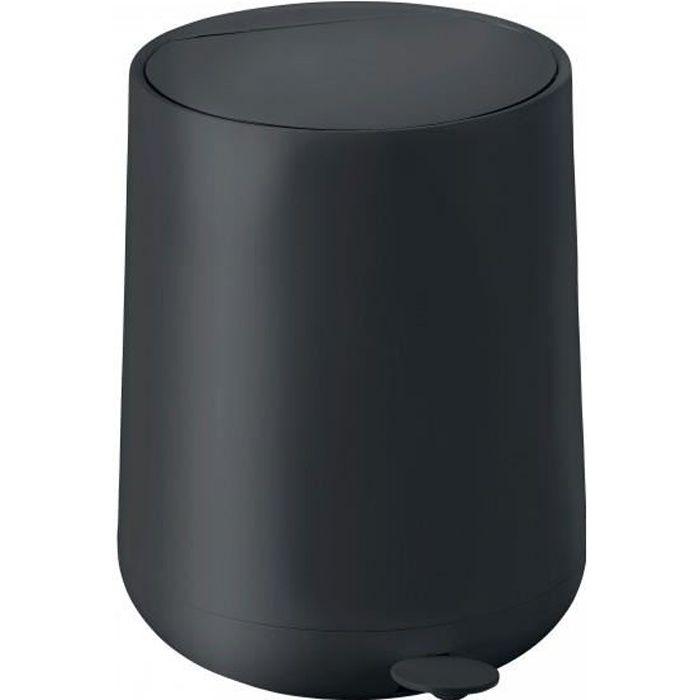 Poubelle de salle de bain design noire soft touch 5l - Poubelle salle de bain design ...
