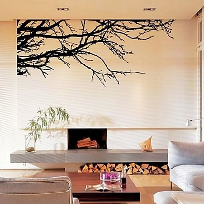 affiche murale branche d 39 arbre noir achat vente affiche cdiscount. Black Bedroom Furniture Sets. Home Design Ideas