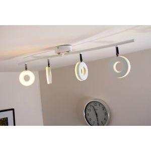 luminaire lustre lampe 4 spots sur rail lustre pla achat vente luminaire lustre lampe 4 sp. Black Bedroom Furniture Sets. Home Design Ideas
