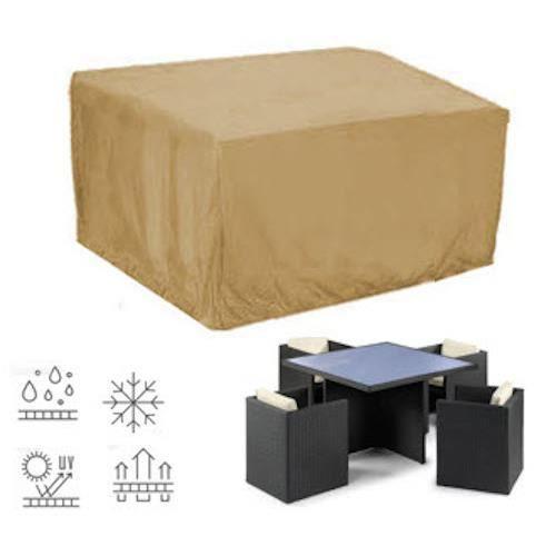 housse pour salon de jardin carr 135x135cm achat vente housse meuble jardin housse pour. Black Bedroom Furniture Sets. Home Design Ideas
