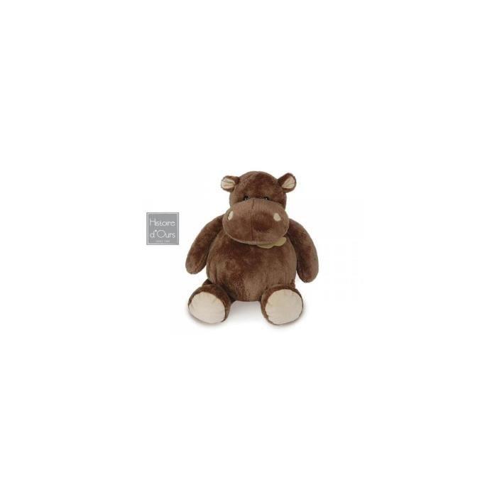 histoire d ours hippo assis moyen mod le 23 cm gris achat vente peluche 3700349310583. Black Bedroom Furniture Sets. Home Design Ideas