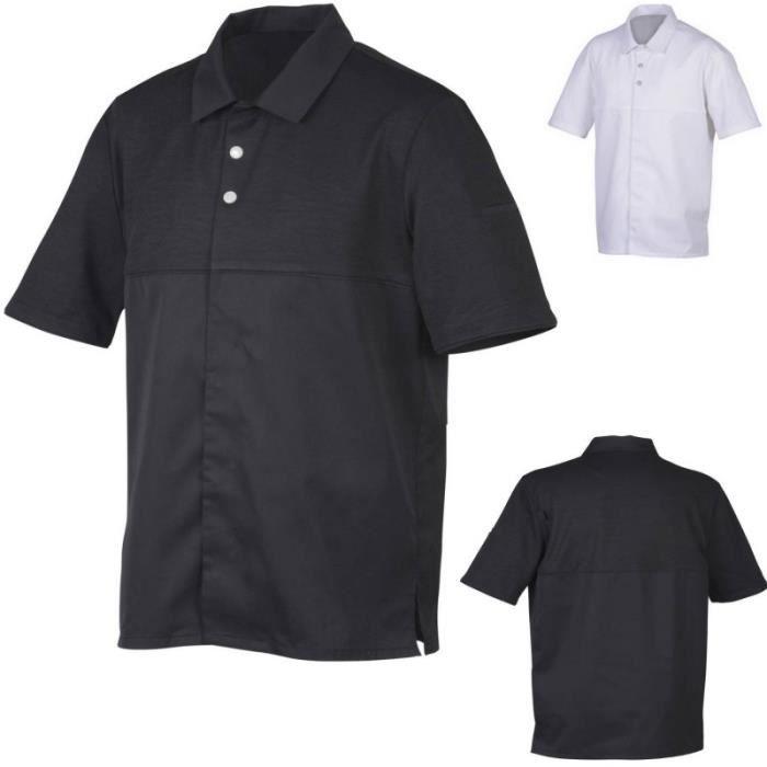 Sibord veste de cuisine mixte forme polo robur achat for Achat veste de cuisine