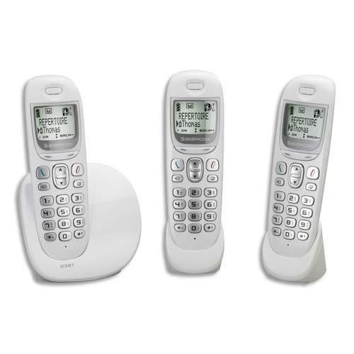 sagem t l phone dect sans fil d38t trio achat vente. Black Bedroom Furniture Sets. Home Design Ideas