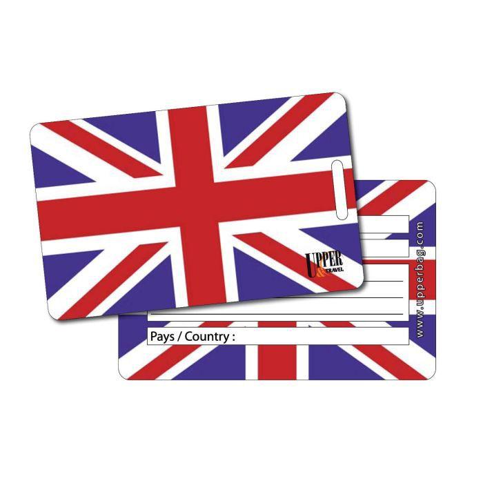 Etiquette bagage uk flag achat vente porte adresse for 1 porte etiquette de voyage