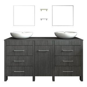 double vasque achat vente double vasque pas cher les soldes sur cdiscount cdiscount. Black Bedroom Furniture Sets. Home Design Ideas