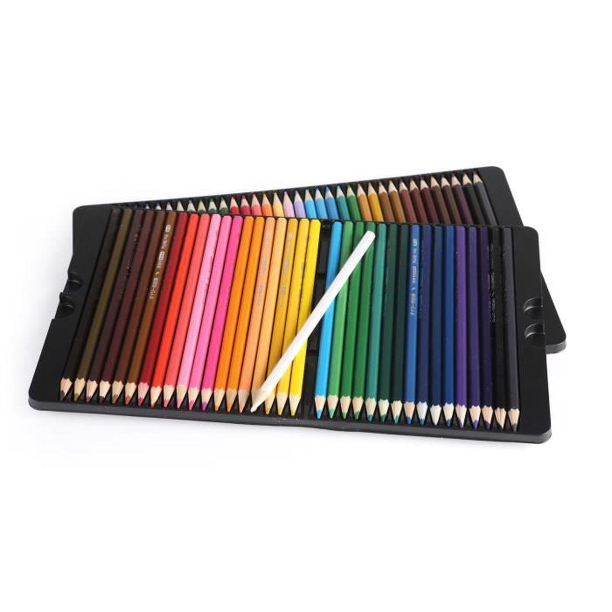eozy lot de 72pcs crayon de couleur color dessin professionnel peinture papeterie achat. Black Bedroom Furniture Sets. Home Design Ideas