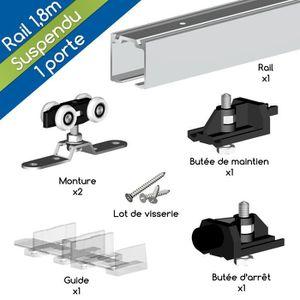 rails portes coulissantes suspendues achat vente rails portes coulissantes suspendues pas. Black Bedroom Furniture Sets. Home Design Ideas
