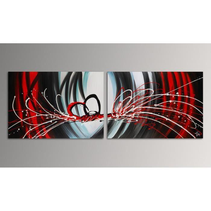 Abstrait tableau moderne peint la main sur toile achat - Accrocher toile au mur ...