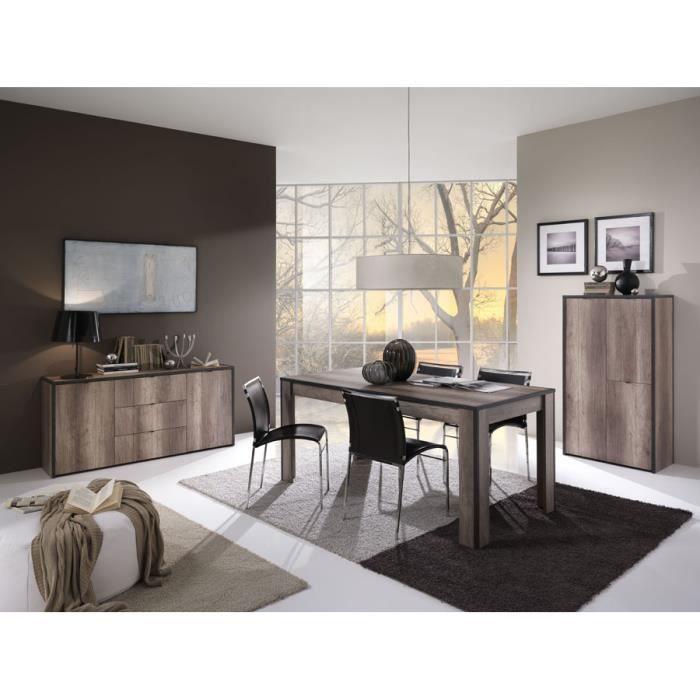 salle manger compl te en ch ne gris loft time meuble. Black Bedroom Furniture Sets. Home Design Ideas