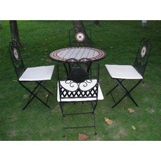 Table de jardin fer forg et mosa que cerise 7 achat - Table de jardin en fer forge mosaique montreuil ...