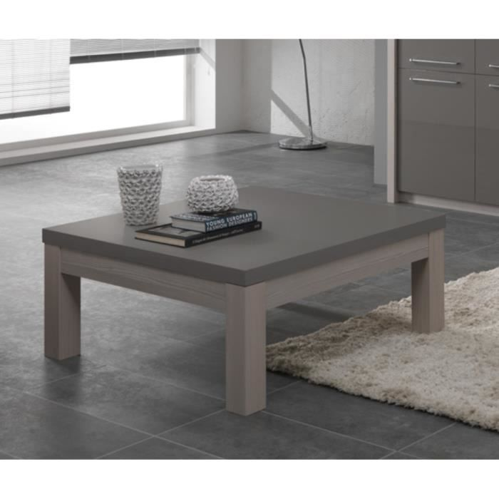 table basse salon carre fano chene gris achat vente. Black Bedroom Furniture Sets. Home Design Ideas