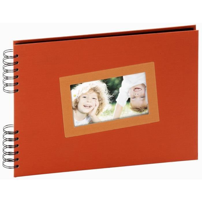 panodia album photo traditionnel ta s orange 31x23 cm 40 pages noires achat vente album. Black Bedroom Furniture Sets. Home Design Ideas