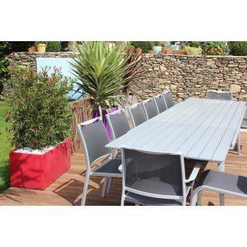 Salon de jardin 8 14 couverts sydney 240 350 cm achat - C discount salon de jardin ...