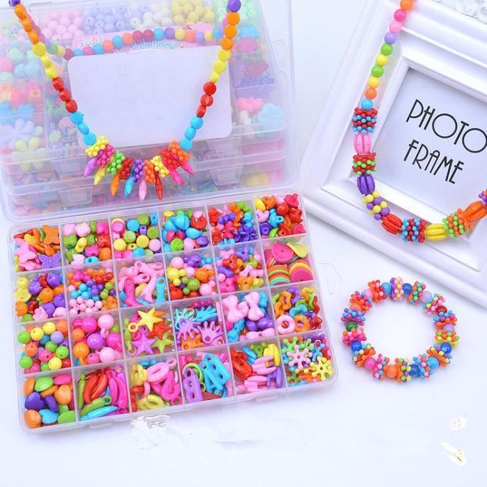 kit de loisirs cr atifs l 39 atelier de bijoux fabrication de bracelet collier diy enfant fille. Black Bedroom Furniture Sets. Home Design Ideas