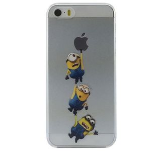 Coque iphone 5s silicone minion achat vente coque for Housse iphone 5se